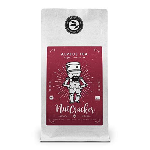 Nutcracker Té Verde Orgánico sabor Nuez - a Frutos Secos, Bolsa A Granel 100 Gramos - alveus Premium Teas