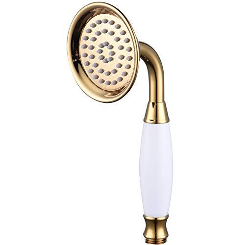 Ciencia–Alcachofa de ducha de latón, de alta presión para cuarto de baño, latón, dorado, BS126