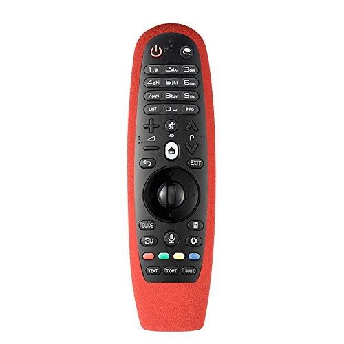 VBESTLIFE Custodia Protettiva per Telecomando TV, Custodia Protettiva Antiurto per TV per LG AN-MR600 Telecomando(Rosso)