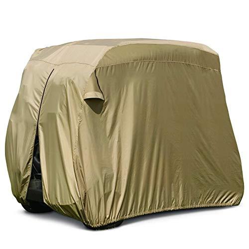 JLKDF Impermeable Cubierta de Carrito de Golf Protección Prevención de Polvo Cubierta de Carrito de Golf Exterior Carros de Golf Cubierta Protectora para Todo Clima para Club Car, M