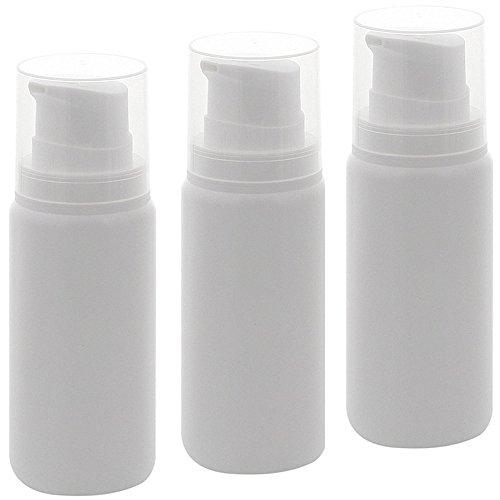 Leerer Kosmetex Airless Pumpspender 200ml mit Innenbeutel, Cremespender, Lotion und Gelspender zum selbst Befüllen, 3× 200 ml