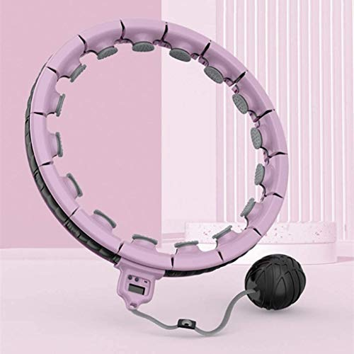 Fitness-Hula-Reifen mit Anzeige, magnetischer Therapie Smart Fitness Ring Hula-Reifen, der Gewichtsverlust Ring360 ° umgibt den Massagesportring, die Größe kann eingestellt werden, die jedes Familienm