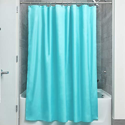 Price comparison product image iDesign Poly Bath Curtains,  Long Shower Curtain,  Made of Polyester,  Blue