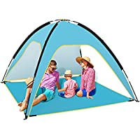 Fltom Easy Set Up 3-4 Person Portable Beach Tent