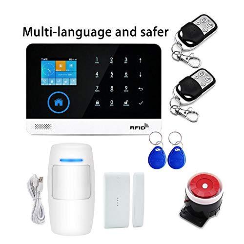 ZSLGOGO Kit de Sistema de Seguridad para el hogar inalámbrico Inteligente con aplicación, Sistema de Seguridad de Alarma Inteligente, Sistemas de Alarma contra robos en la Oficina de la casa