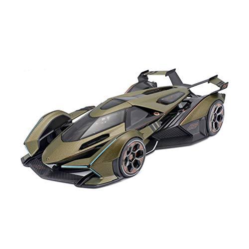 Maisto Lamborghini V12 Vision Grand Turismo: modellino auto in scala 1:18, bagagliaio e cofano mobile, orientabile, 26 cm, verde (536454)