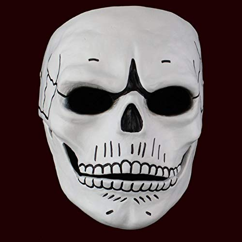 XWYWP Halloween Maske Spectre Maske Totenkopf Skelett Gruselig Halloween Karneval Cosplay Kostüm Maskerade Geist Party Harz Masken Weiß