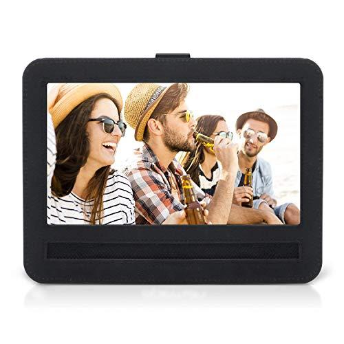 APEMAN 9-9.5 Car Oxford Nylon Hands-free Headrest Mount Holder Strap Case with Swivel Flip Screen for Portable Mini DVD Player (Black)