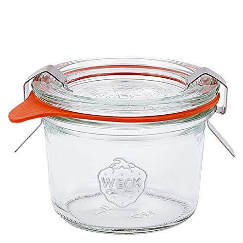 18x WECK-Mini Sturzglas 80ml mit Gummiring und Klammern