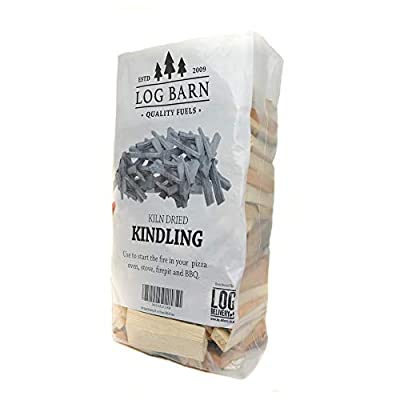 Kiln Dried Kindling 3kg (approx) Bag Perfect for Starting fires of all types, Open Fires, Stoves, BBQ & Pizza Ovens by Log-Barn