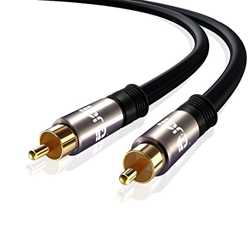 IBRA® Cable Audio RCA Subwoofer doble blindaje conectores