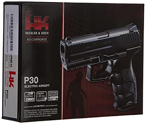 HECKLER & KOCH Softair P30 Electric mit Maximum 0.5 Joule Airsoft Pistole, Schwarz, One Size