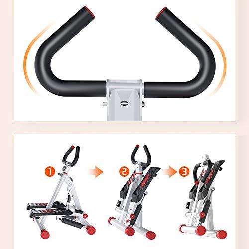 Tensism Foldable Stepper,Adjustable Armrest Stepper,Multi-Function Stepper,Sports Weight-Loss Hydraulic Stepper,Fitness Equipment B 5