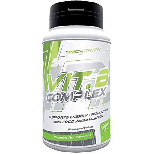 Trec Nutrition Complesso di Vitamina B Confezione da 1 x 60 Capsule - Tiamina Riboflavina Niacina Acido Pantotenico B6 B12 Acido folico Biotina Colina Inositolo PABA