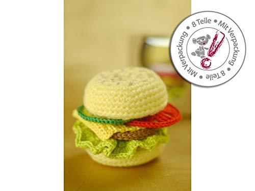 gehäkelter Hamburger zum belegen als Geschenk für Kinderküche Zubehör