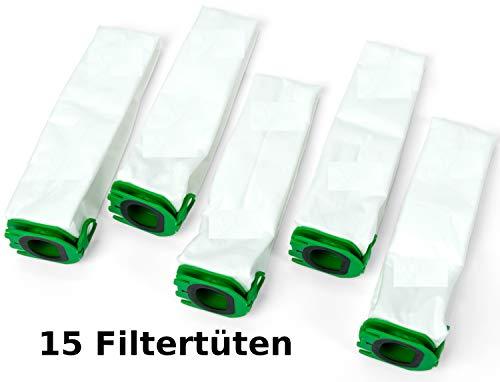Vorratspack 15 Staubsaugerbeutel Premium Vlies geeignet für Vorwerk Kobold VB100 Akkusauger Standgerät