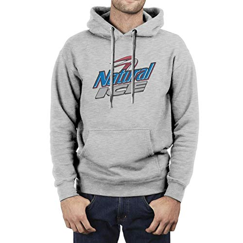 Classic Fleece Hooded Sweatshirt for Men Natural-Light-Ice-Beer- Pullover Hoodie Sweater