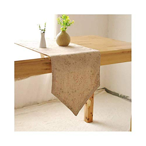 CUIZC Camino de mesa con impresión pastoral, para mesa de café, cubierta para armario de TV, mantel de tela, 30 x 140 cm, 30 x 220 cm