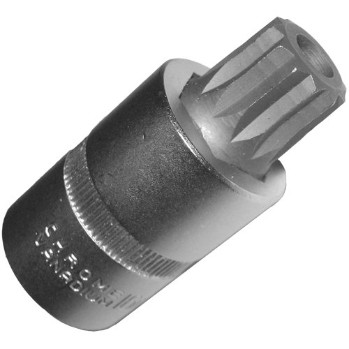 M16 XZN Vielzahn (Doppel-Sechskant/Doppel-6-kant) Schraubenschlüssel-Einsatz Nuss Länge 55 mm mit Bohrung für Getriebe Ölablaßschrauben bei VAG Motoren