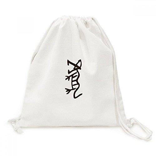 DIYthinker Knochen Inschriften Chinese Zodiac Tiger-Leinwand-Rucksack Reisen Shopping Bags
