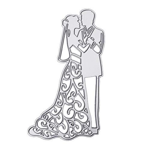 Stanzschablonen für Brautpaar, für Scrapbooking, Alben, Karten, Prägung, Basteln, Muster, Hochzeit, Liebe, Stanzschablonen
