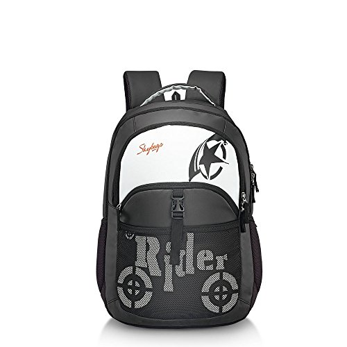 Skybags Raider 27 Ltrs Black Casual Backpack (RAID01BLK)