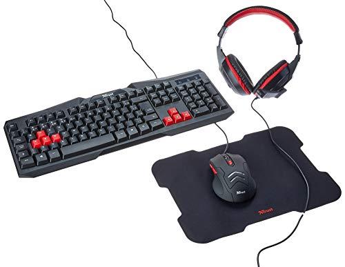 Kit Gamer 4 x 1 Teclado + Mouse + MousePad + Headset - Ziva - Trust, T22428