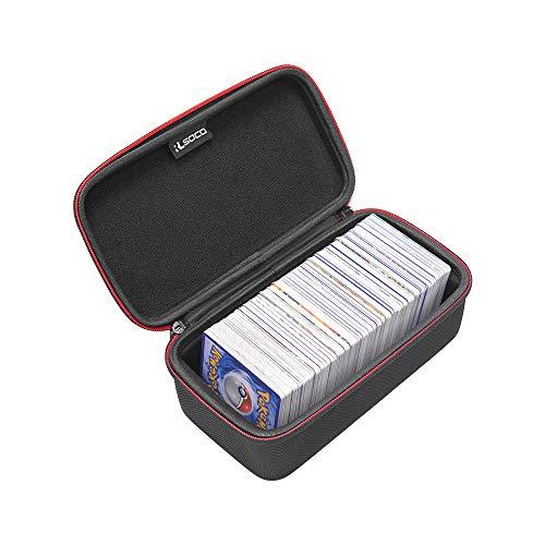 RLSOCO HardCase Koffer voor Pokemon-kaarten (500 stuks) - Rechthoekige stevige hoes voor Pokemon-ruilkaarten met kaartsleuven (alleen in de uitverkoop)