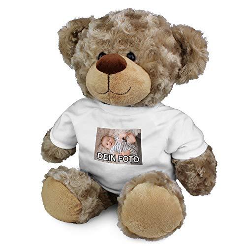 PhotoFancy® – Kuscheltier mit Foto Bedrucken – Kuscheltier (XL Teddy) mit eigenem Motiv selbst gestalten