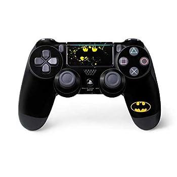 Skinit Decal Gaming Skin for PS4 Pro/Slim Controller - Officially Licensed Warner Bros Batman Logo Yellow Splash Design