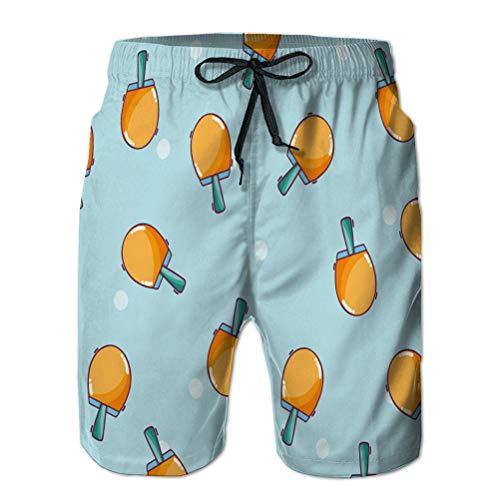 Pantalones Cortos de Verano para Hombre Deportes al Aire Libre Pantalones Cortos Casuales Fondo de Raquetas de Ping Pong XL