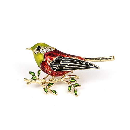 RQZQ Broche Factory Direct Verkoop Geëmailleerde Vogel Metalen Broche Pinnen voor Vrouwen