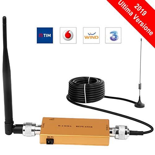 Yuanj Handy signalverstärker 2G 3G Repeater GSM Verstärker 2100 MHz WCDMA Verstärker Telefon für Ladegeräte Sprachanruf (Gold) (Gold)