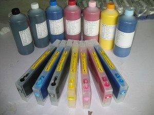 Gowe 7Patronen und 1Chip Resetter für Epson Pro 7600Druckerpatrone refill Pigmenttinte
