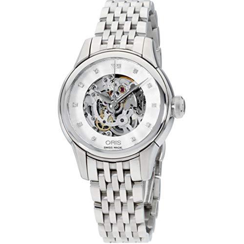 Oris Artelier Damen-Armbanduhr Diamant Schweizer Automatik 01 560 7687 4019-MB