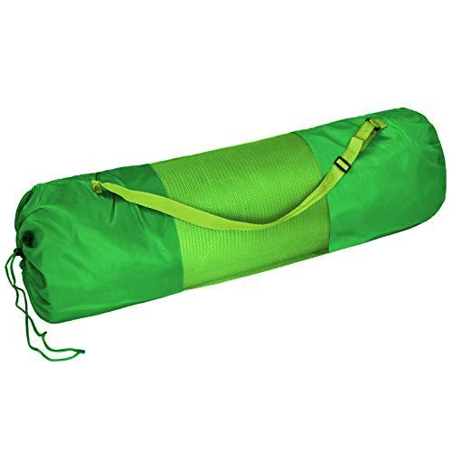 BB Sport Tragetasche für Yogamatten bis 60 cm breit und 22,5 cm Durchmesser zusammengerollt Yoga Gymnastik Turnen Pilates Fitness, Farbe:Natural Green