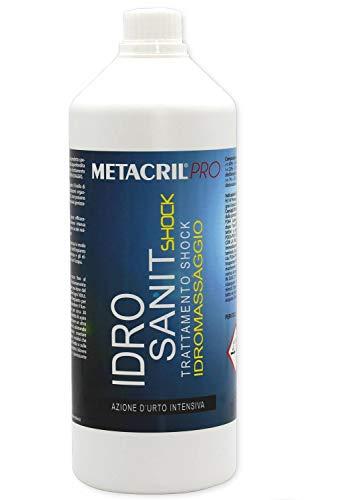 Metacril IDRO SANIT Shock 1 LT - Sanificante Shock per IDROMASSAGGIO(Teuco, Jacuzzi, Albatros, Novellini, Hafro, Glass, ECC.) Spedizione IMMEDIATA
