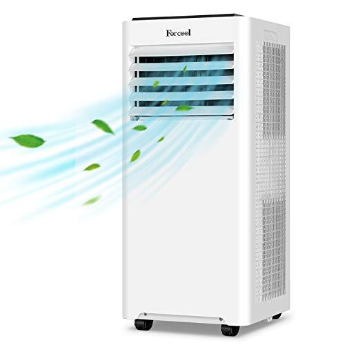 Forcool Klimagerät Mobil, 4 in 1 Klimaanlage 9000 BTU Luftkühler Luftreiniger Luftentfeuchter Ventilator Natürliche Energieklasse A