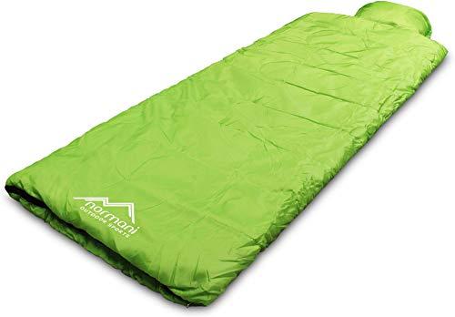 normani Einzel Schlafsack Pilotenschlafsack mit integriertem Kopfkissen Farbe Pilot/Limette