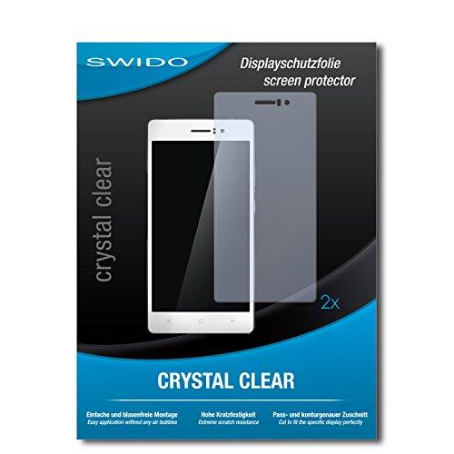 SWIDO Schutzfolie für Oppo R5 [2 Stück] Kristall-Klar, Hoher Festigkeitgrad, Schutz vor Öl, Staub & Kratzer/Glasfolie, Bildschirmschutz, Bildschirmschutzfolie, Panzerglas-Folie