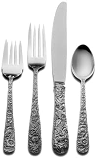 Kirk Stieff Repousse 4-Piece Sterling Silver Flatware Place Set, Service for 1