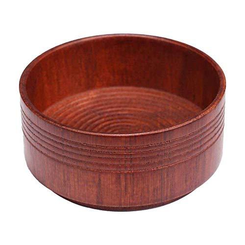 Yuyanshop Shaving Soap Bowl Men Wood Oak foam Wet Mug Shave Anti-slip Dark Brown Cleaning Cup Natural Tool