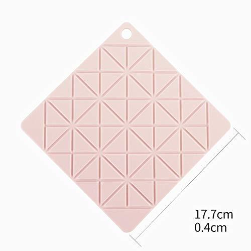 1 stuk siliconen eettafel affiche coaster standaard voor kopjes, onderzetters voor glas, keuken, accessoires, tapijt, mok, bar, kopje, kopje, kopje, kopje, kopje, stempel onder glas Turtle Shell Square Pink