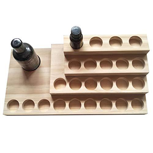 Ätherisches Öl Display Ständer/Duftöle Gestell Halter Organisator, 25 Löcher Holz Box Veranstalter Aufbewahrung Koffer Speicher Box für Nagellack, Duftöle, Ätherische Öle, Stain und Lippenstift