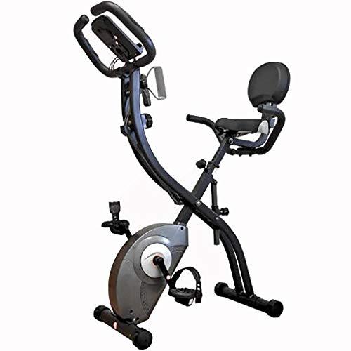 HYJBGGH Fitnessbikes Heimtrainer Crosstrainer, Fahrrad Heimtrainer,Super Mute-Heimtrainer Zum Zusammenklappen, Indoor-Pedal-Heimtrainer Mit Pulssensoren (Color : Black)