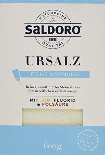 SALDORO Ursalz Fein mit Jod + Fluorid + Folsäure, 8er Pack (8 x 600 g)