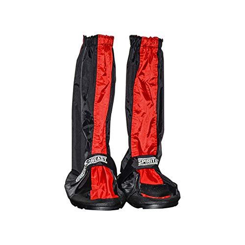 Couvre-chaussures de cyclisme Ensemble de bottes anti-pluie for cyclistes équipés de chaussures hautes imperméables résistant à l'usure for motards Protecteur de vélo ( Couleur : Noir , Taille : XL )