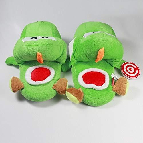 XINLIANG Dibujos Animados Peluche Zapatillas Super Mario Brothers Verde Yoshi Donkey Kong...