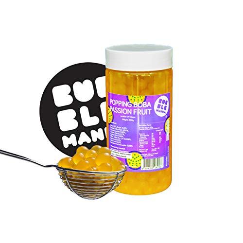 Originele Boba Popping fruitparels voor Bubble Tea Passievrucht (450 g)