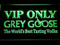 Grey Goose VIP Only LED看板 ネオンサイン ライト 電飾 広告用標識 W60cm x H40cm グリーン